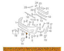 TOYOTA OEM 09-11 RAV4 Front Bumper-Tow Hook Eye Cover Cap Right 5328542927