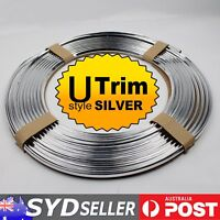 6M Silver Chrome Moulding Trim Strip U Style Car Exterior Interior Air Vent Edge