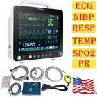 FDA CE 12'' Portable Patient Monitor Vital Signs 6 Standard Parameters NIBP SPO2