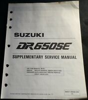 1995 SUZUKI MOTORCYCLE DR650SE SERVICE MANUAL SUPPLEMENT 99501-46050-03E (419)