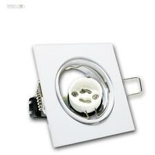 5er Set Luminaire à encastrer carré pivotant GU10 230V blanc spot encastré