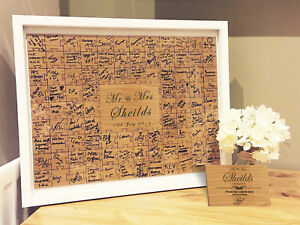 Jigsaw Guestbook with Sign Personalised Framed or Unframed - Signature Freehand