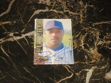 2001 ROYAL ROOKIES FUTURES AUTO/SERIAL CARD FROM BRYANT NELSON #5 NM-MT