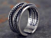 Silberring Draht Vintage Ring Silber 925 Verstellbar Offen Damenringe Damen