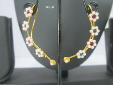 Indian Fashion Earcuff Gold Plated Jewelry Traditional Pearl Earrings Set PRE193