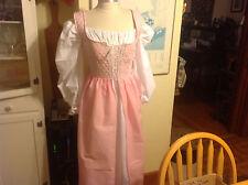 renaissance dress & chemise pink theater quaility