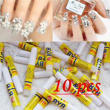 10X2g Nail Art Strong Glue with BRUSH for Tips Decoration Set 2016 ZOS A