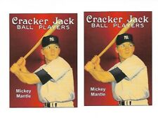 Mickey Mantle Cracker Jack Ball Players  Advertising Card X 2