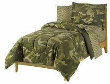 Camouflage Camo Army Comforter Full Size Bedspread Bedding Set Pillowcase Sheets