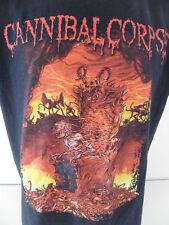 Cannibal Corpse Death Metal Men's XL T Shirt Flaming Hellfire Devil Demons Satan