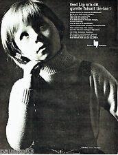 PUBLICITE ADVERTISING  026  1964  Fred lip  montre carrée