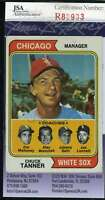 Chuck Tanner 1974 Topps Jsa Coa Hand Signed Authentic Autographed