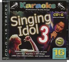 Karaoke CD+G - Singing Idol Vol 3 - New 16 Song CD! I've Got The Music in Me