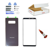 Orchid Gray Front Back Glass Lens Cover Replacement LCD Repair Fit Galaxy Note 8
