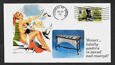 1966 Musser Vibraphone & Pin Up Girl Featured on Collector's Envelope *A148