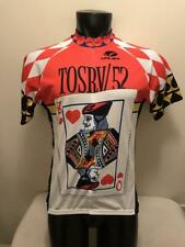 Tosrv 52 Ohio King Queen of Hearts Playing Card Voler Cycling Jersey Mens Large