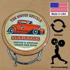 Hotrod Style Counter Workshop Barstool / Full Swivel / USA Made /
