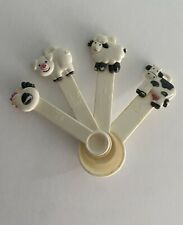 RARE Vintage Plastic Farm Animal Measuring Spoons