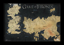 GAME OF THRONES MAP OF WESTEROS 13x19 FRAMED GELCOAT POSTER JON SNOW HBO TV NEW!
