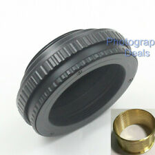 Brass M42 to M39 12mm-19mm Adjustable Focus Helicoid Adapter Macro Mount Tube