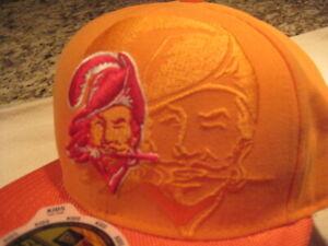 New Era  orange Tampa Bay Buccaneers kids 59fifty 6 1/2 shadow logo hat cap new