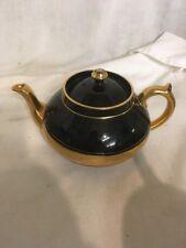 Gibson & Sons Lati Sevres Davenport black & gold coffee pot teapot