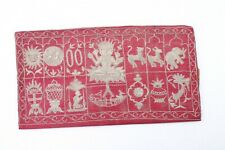 Antique Jain Subject Engrave Original Silver Thread Embroidery Book Cover NH2887