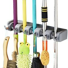 Wall Mounted Organizer Storage Garage Mop Broom Tool Rack Holder Shelf Tire