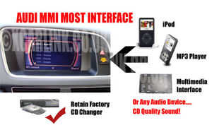 AUDI 2G MMI MOST iPod iPhone Aux In Audio Adapter Interface A6 A8 Q7 A4 A5 MMI