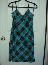 MICHAEL KORS Women Spaghetti Strap Check Print Dress Size 0 NWT