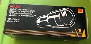 Kodak Slide Projector Lens 100-150 mm Zoom f/3,5 w/ Box CAT 143 3432