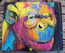Peinture signée - art contemporain graffiti - tableau moderne canvas singe kong