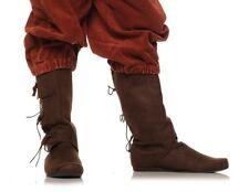 Brown Renaissance Fair Knee Medieval Peasant Pirate Costume Boots Mens 8 9 10 11