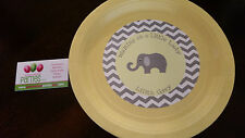 Elephant baby shower plates