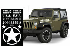 Set Army Sticker Compatible with Jeep TJ FJ Wrangler RUBICON USMC Military Decal