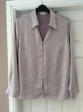 Ladies pale lilac silky blouse Marks and Spencer size 18