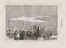 1875 QUATERCENTENARY OF MICHAEL ANGELO AT FLORENCE PROCESSION PORTE ALLE GRAZIE