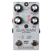 Alexander Quadrant Audio Mirror Delay Guitar Effects Pedal Stompbox w/ MIDI