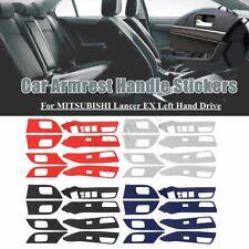 8pcs Car Carbon Fiber Armrest Handle Sticker Decoration For MITSUBISHI Lancer