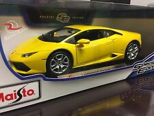 Maisto 1:18 Scale Diecast Model Car - Lamborghini Huracan LP 610-4 (Yellow)