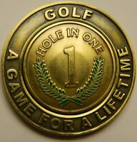 NEW Hole In One Commemorative Pocket Coin w removable Golf Ball Marker See Pics
