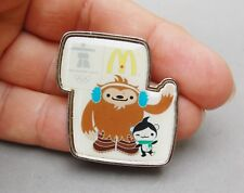 Quatchi & Miga Mascot Vancouver 2010 McDonalds Olympic Pin Pinback Souvenir Rare