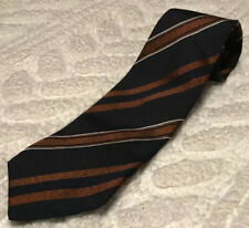 Gianluca Isaia Napoli Striped Tie Blue Barneys New York 100% Silk