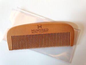 Natural Wood Hair + Beard Comb
