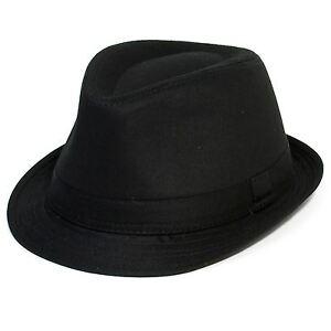 Unisex Black Trilby Hat 5 Sizes Sent Boxed
