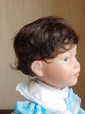 """TRACY SHORT Wavy Playhouse Synthetic Doll Wig Size 10-11"""" Dark Brown, NOS"""