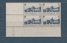 timbre France bloc de 4 coin daté   chateau de Versailles   num: 379  **