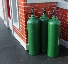 Oxygen Tanks Diecast (3) 1/24 Scale G Scale or 1/18 Scale Diorama Accessories