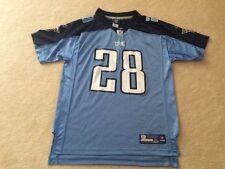 d95cbbffab74 Youth XL Reebok On field Tennessee Titans NFL Football jersey 28 Johnson  blue