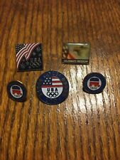 Usa Olympic Team Supporter Lapel Pin Lot Aminco Republican Committee
